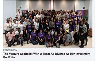 Link Forbes Article The Venture Capitalist With a Team As Diverse As Her Investment Porfolio