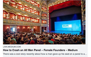 Link Medium Article Andrea Barrica How to Crash an All Men Panel