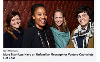 Link New York Times Article Aniyia Williams More Start-Ups Have an Unfamiliar Message for Venture Capitalists Get Lost
