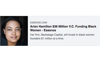 Link Essense Article Arlan Hamilton About Damn Time Fund