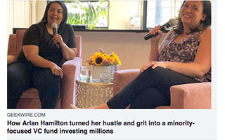 Link GeekWire Article Arlan Hamilton turned her hustle and grit into minority-focused VC