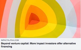 Astrid Scholz Article Impact Alpha Beyond Venture Capital More Impact Investors Offer Alternative FInancing
