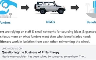 Astrid Scholz Article Medium Questioning the Business of Philanthropy