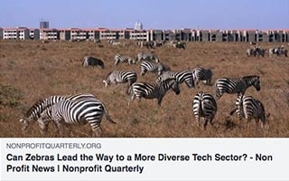 Astrid Scholz Article Non Profit Quarterly Can Zebras Lead The Way to a More Diverse Tech Sector