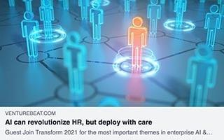 Aubrey Blanche Article Venture Beat AI can revolutionize HR