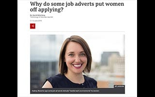 Aubrey Blanche Article BBC Why Do Some Job adverts Put Women Off Applying