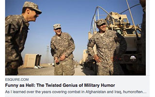 Link Esquire Article Carmen Gentile Celebrating the Twisted Genius of Soldier Humor