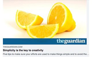 Link TheGuardian Article Chris Barez-Brown Simplicity is the key to creativity Gravity Speakers