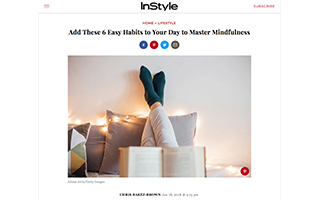 Link InStyle Chris Baréz-Brown 6 Easy Habits Master Mindfulness Gravity Speakers