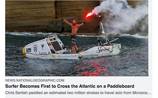 Link National Geographic Article Chris Bertish Surfer Becomes first to Cross the Atlantic