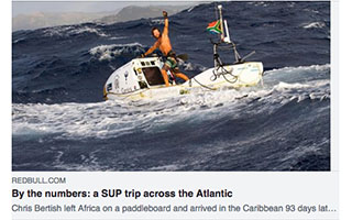 Link Red Bull Article Chris Bertish By The Numbers A SUP trip across the Atlantic