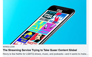 Link Wired Article Damian Pelliccione The Streaming Service Trying to Take Queer Content Global