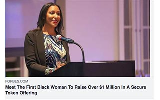 Link Forbes Article Dawn Dickson Meet the First Black Woman to Raise Over 1Million In a Secure Token Offering