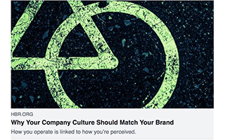 Link Harvard Business Review Article Denise Lee Yohn Why Your Company Culture Should Match Your Brand
