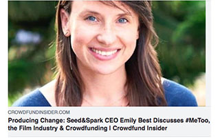 Link Crowdfund Insider Article Emily Best Producing Change
