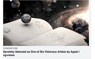 Link CGNews Article Erin Sarofsky One of Six Visionary Artists by Apple