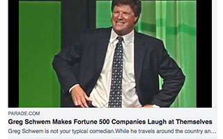 Link Parade Article Greg Schwem Makes Fortune 500 Companies Laugh at Themselves