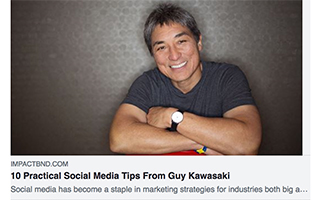 Link Impactbnd Article Guy Kawasaki 10 Practical Social Media Tips Gravity Speakers