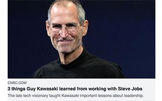 Link CNBC Article Guy Kawasaki 3 Things Working With Steve Jobs Gravity Speakers