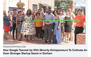 Link Free Enterprise Article Harold Hughes How Google Teamed Up With Minority Entrepreneurs Durham