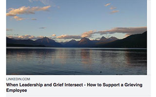 Link LinkedIn Article Heidi Connal When Leadership and Grief Intersect