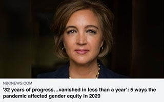 Katica Roy Article NBC News 5 Ways the Pandemic affected gender equity in 2020