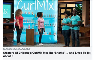 Link Block Club Chicago Article Kimberly Lewis Creators of CurlMix Met The Shark Tank and Lived to Talk About It