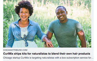 Link Chicago Tribune Article Kimberly Lewis CurlMix Ships Kits For Naturalistas to Blend Their Own Products