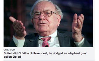 Link CNBC Article Lawrence Cunningham Unilever Deal Is Dead