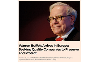 Link European Financial Review Article Warren Buffett arrives in Europe