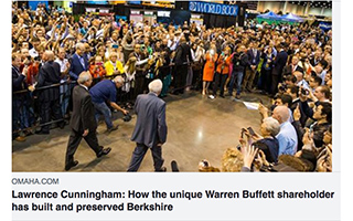 Link Omaha World Herald Article Lawrence Cunningham Warren Buffett shareholder