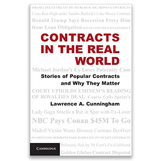 Link Amazon Book Lawrence Cunningham Contract in the Real World