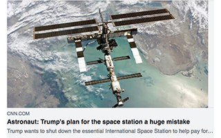 Link CNN Article Leroy Chiao Trump Mistake Gravity Speakers