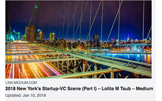 Link Medium Article Lolita Taub 2018 New York Startup-VC
