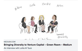 Link Medium Article Lolita Taub Bringing Diversity to Venture Capital