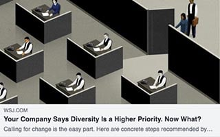 Madison Butler Article WSJ Your Company Says Diversity Is a Higher Priority