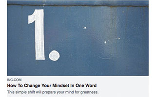 Link INC Magazine Article Mandy Antoniacci How To Change Your Mindset In One Word