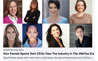 Link SportTechie Mandy Antoniacci Article Female Sports Tech CEO MeToo Era Gravity Speakers Exclusive