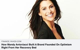 Mandy Antoniacci Article How Mandy Antoniacci Built a Brand Founded on Optimism Right From Her Recovery Bed