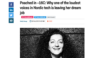 Link Nordic BusinessInsider Mara Kalajian Article Loudest Voice Dream Job Gravity Speakers