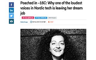 Link Nordic BusinessInsider Mara Kalajian Article Loudest Voice Dream Job Gravity Speakers