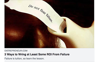 Link Entrepreneur Mark Coopersmith Article ROI From Failure Gravity Speakers