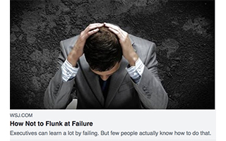 Link The Wallstreet Journal How Not To Flunk At Failure Gravity Speakers