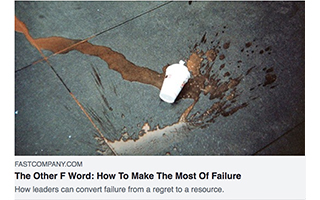 Link Fast Company Article Mark Coopersmith The Other F Word How To Make The Most Of Failure