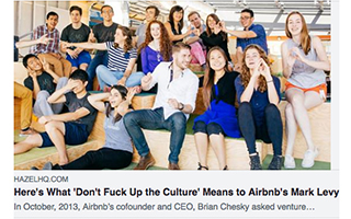 Link HazelHQ Article Mark Levy What Don't Fck Up The Culture Means to Airbnb Gravity Speakers