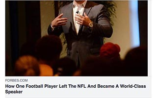 Link Forbes Article Matt Mayberry How One Football Player Left The NFL and Became a World-Class Speaker