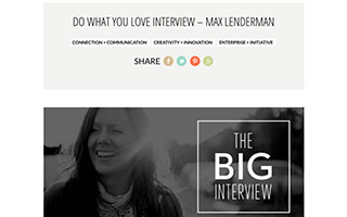 Link Do What You Love Blog Interview Max Lenderman