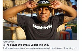 Link Forbes Article Mike Brown Is The Future of Fantasy Sports Win Win