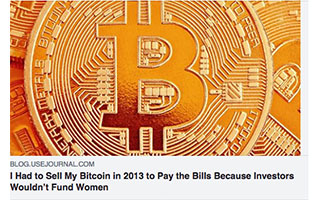 Link Use Journal Article Rachel Cook I had to sell my Bitcoin