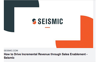 Link Seismic Podcast Roderick Jefferson Drive Incremental Revenue Sales Enablement Gravity Speakers